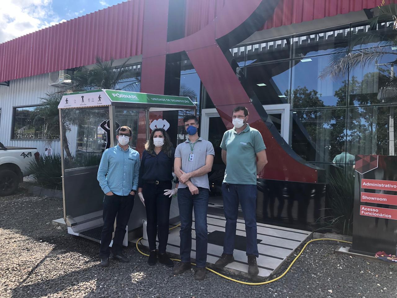Cabine de Higienização: Fornari estabelece parceria comercial com a Desinservice Saúde Ambiental, de Santa Maria (RS)